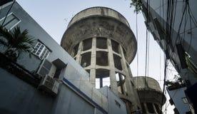 老水塔在胡志明,越南 免版税库存照片