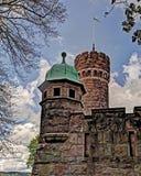 老水塔, HDR的瑞典 免版税图库摄影
