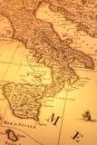 老巴尔干意大利映射 免版税库存照片