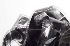 老阴性35 mm在白色背景的影片小条 图库摄影