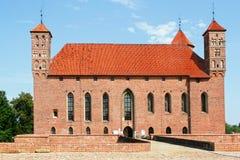老主教的中世纪城堡在利兹巴克Warminski 免版税库存照片