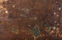 老破旧的生锈的金属纹理、背景或者墙纸 免版税库存图片