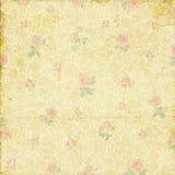老破旧的退色的玫瑰色墙纸 皇族释放例证