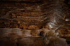 老黑暗的木表面小插图 库存照片