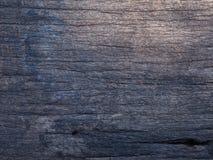 老黑木纹理背景 免版税库存照片
