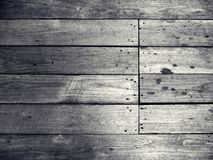 老黑木背景 免版税库存图片