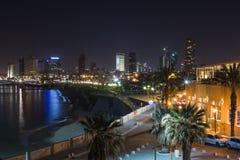 老贾法角在晚上。特拉唯夫。以色列 免版税图库摄影