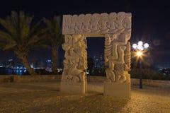 老贾法角在晚上。以色列 库存照片