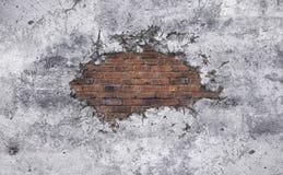 老水泥打破的墙壁 库存例证