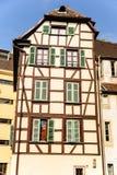 老经济公寓住宅,史特拉斯堡,法国 免版税图库摄影
