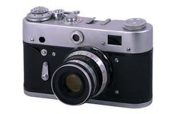 老黑照相机 免版税库存图片