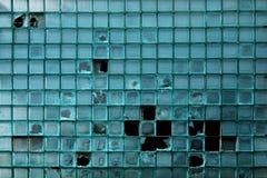老玻璃砖墙壁 免版税图库摄影