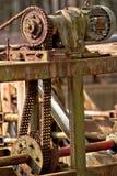 老&生锈的机器零件 免版税图库摄影