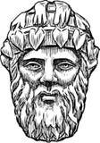 老建筑男性面具 免版税库存图片