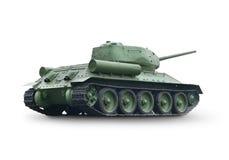 老绿色坦克 免版税库存照片