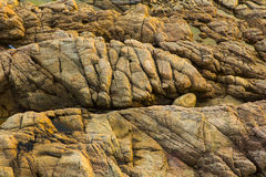 老黄色岩石 免版税库存图片