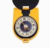 老黑黄色指南针 库存图片