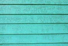 老绿色木板墙壁 图库摄影