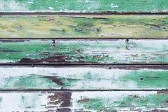 老绿色木板条背景 库存图片