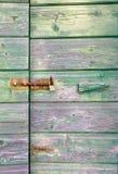 老绿色木门 库存照片