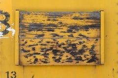 老黄色木头和金属背景纹理 库存图片