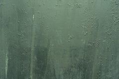 老绿色脏的金属表面/纹理/背景 图库摄影