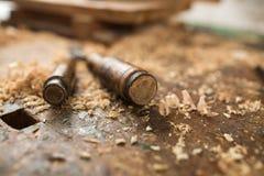 老破裂的木委员会 免版税库存图片