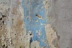 老破裂的油漆混凝土墙纹理 库存照片