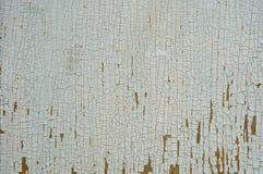 老破裂的油漆纹理  库存照片