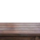 老黑褐色木台式 库存照片