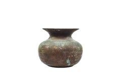老黄铜花瓶 库存图片