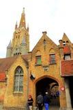 老医院布鲁日比利时 库存图片