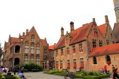 老医院布鲁日比利时 免版税库存照片