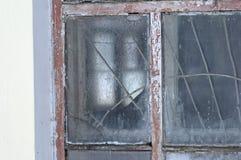 老结霜的窗口 免版税库存图片