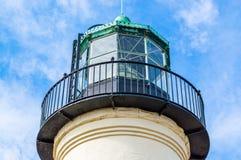 老洛马角灯塔在圣地亚哥,加利福尼亚 图库摄影