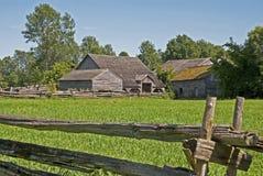 老19世纪农场 免版税库存图片