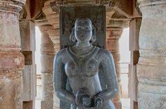 老Adivasi妇女Gulkeyi Ajj的雕象 免版税库存图片
