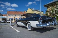 老amcar, 1955年Buick里维埃拉56r超级2个门敞篷车 免版税库存图片