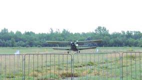 老An-2双翼飞机 影视素材