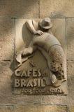 老Bracafé标志,巴塞罗那 库存照片