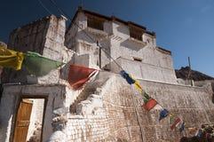 老budhist寺庙在Basgo,拉达克,印度 免版税库存图片