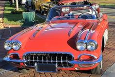 老Chevrolet Corvette汽车 免版税库存图片