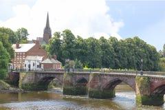 老Dee桥梁。 彻斯特。 英国 图库摄影