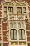 老Delacre药房的门面艺术Nouveau在Coudenberg街道的在布鲁塞尔,比利时 免版税图库摄影