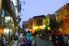 老Fatimid开罗在晚上 库存图片