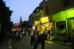 老Fatimid开罗在晚上 免版税库存照片