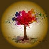 老Grunge结构树。 库存图片
