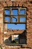 老grunge被毁坏的工厂 库存照片