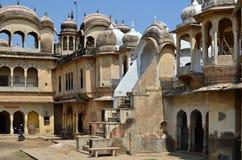 老Haveli,曼达瓦,拉贾斯坦,印度 免版税库存照片