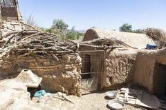 老Kharanagh村庄在亚兹德,伊朗 免版税库存照片